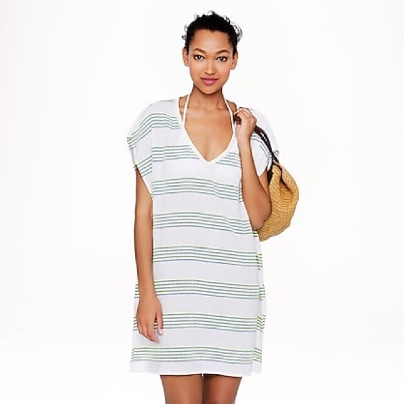 b5579706d155a J. Crew Other - J. Crew striped tunic beach cover-up